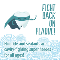 Tooth wearing cape to fight plaque