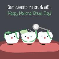 National Brush Day Cartoon