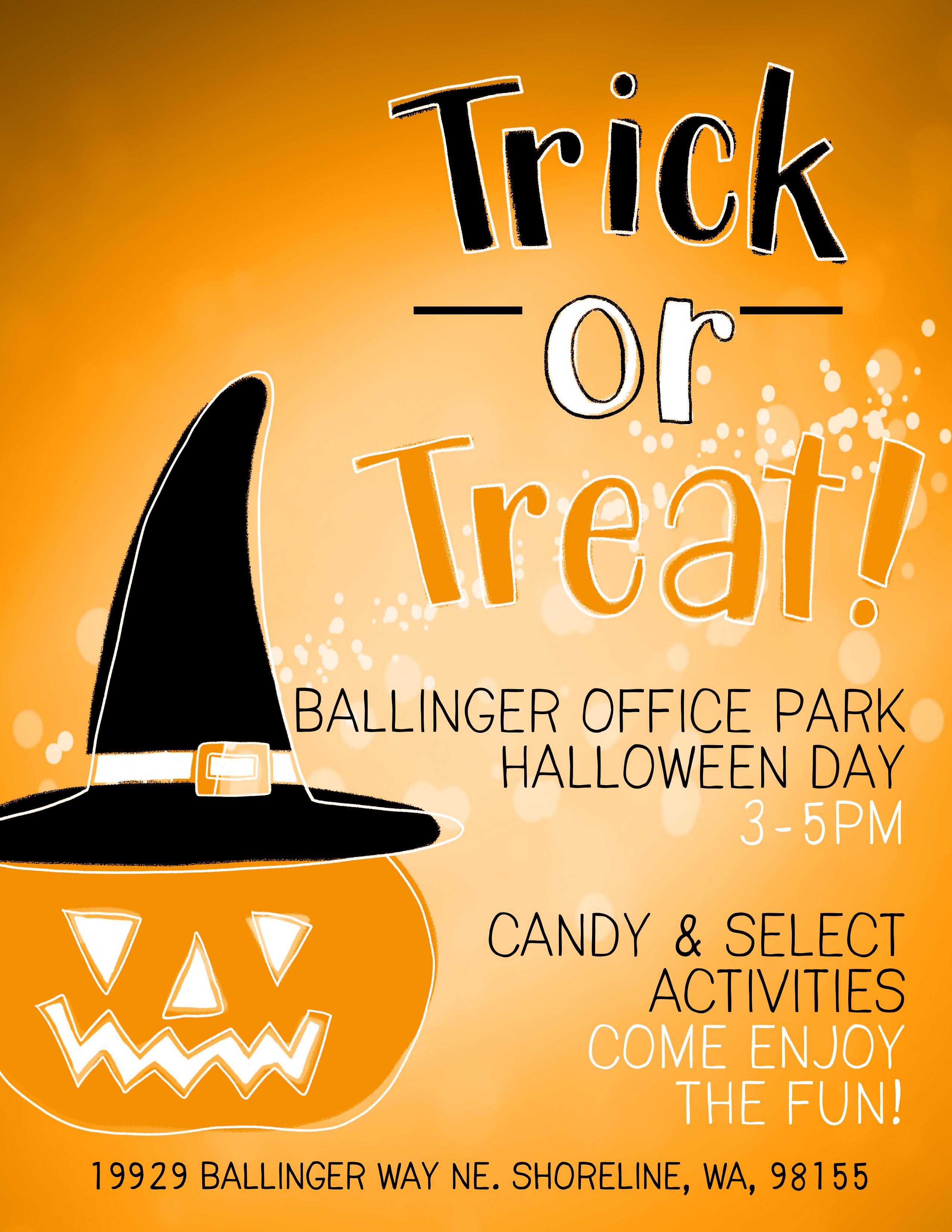 Halloween trick or treat flier