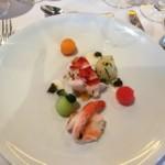 fancy dinner on white plate