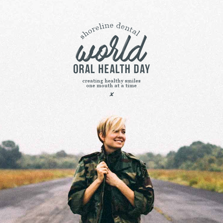 World Oral Health Day woman outside